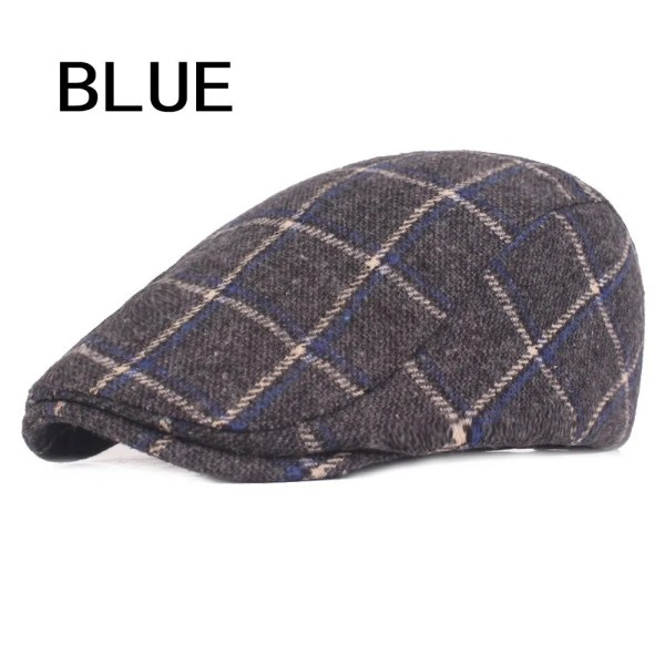 Spring Autumn Hats For Men in Casual Plaid Cotton 8