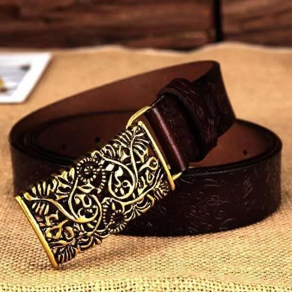 Women Fashion Luxury Genuine Top Quality Leather Belt 12