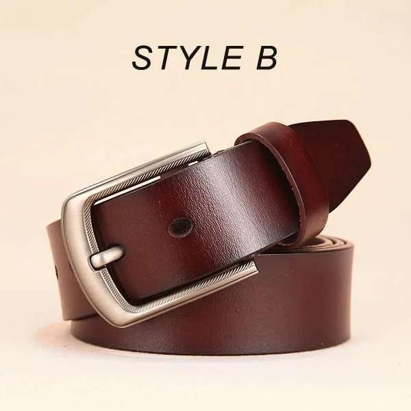 Men Genuine Leather Jeans Belt 10