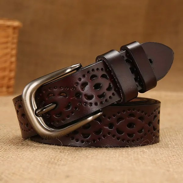 New Women Fashion Wide Genuine Leather Belt for Jeans 7