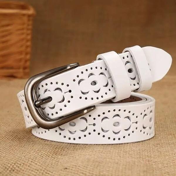Genuine Casual Designer Leather Belt for Women 8