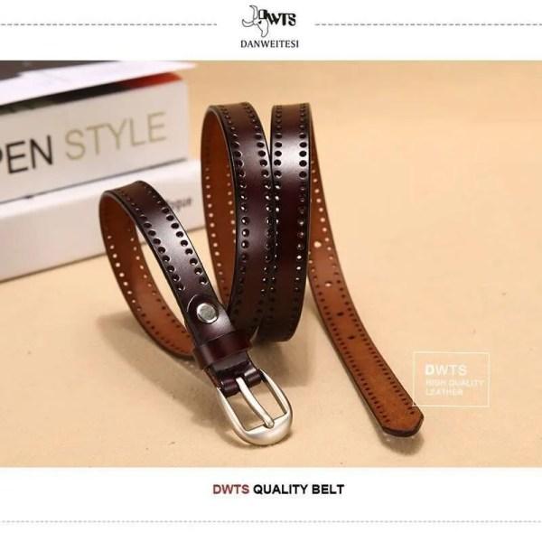 New Pin Buckle Women Fashion Genuine Leather Belt 6