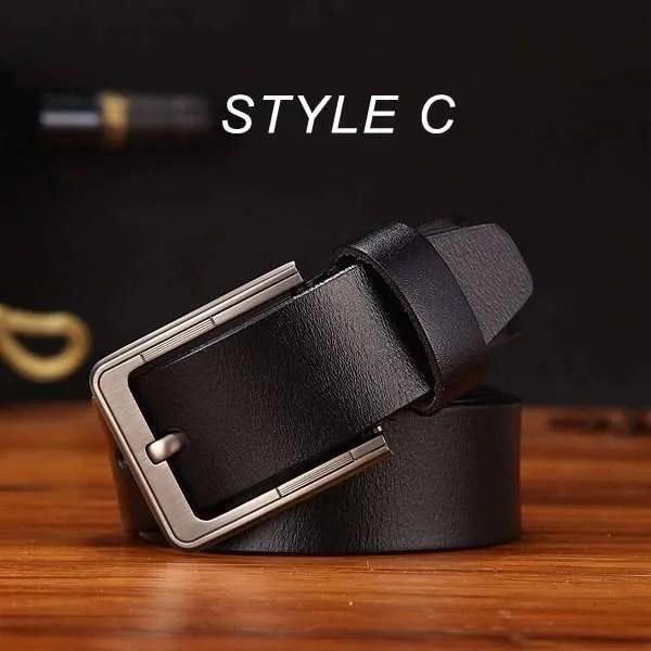 Men's Genuine Cowhide Leather Belt 16