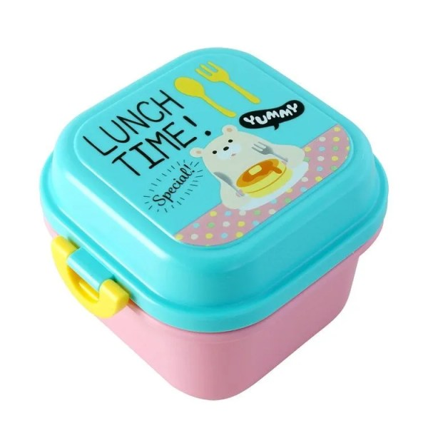 Children Cartoon Style Healthy Plastic Microwave Lunch Box 7