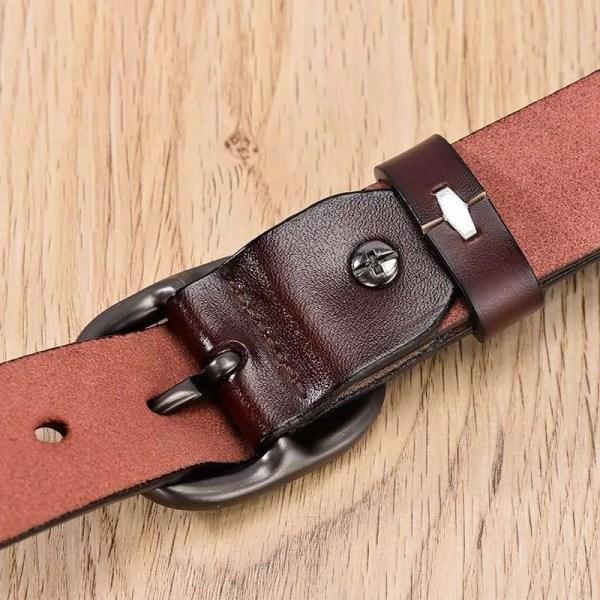 Women Fancy Vintage Leather Jeans Belt 5