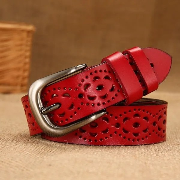 New Women Fashion Wide Genuine Leather Belt for Jeans 8