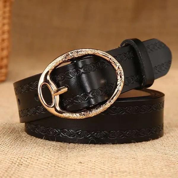 Women Designer Brand Luxury Leather Belt 7