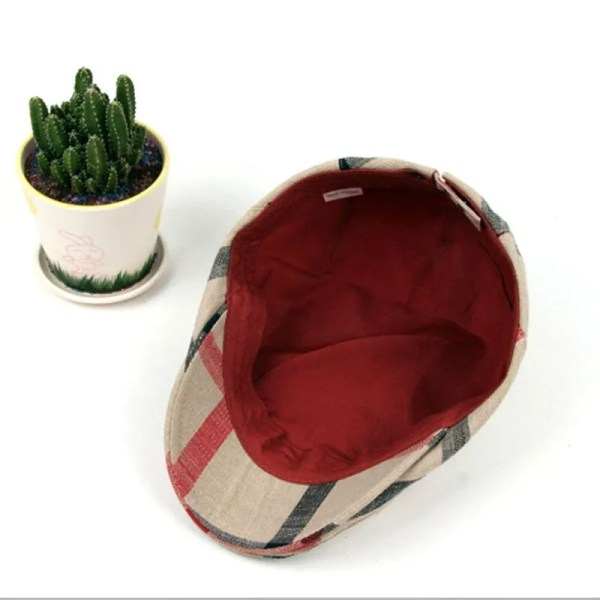 Classic England Style Plaid Berets Caps for Men and Women 6