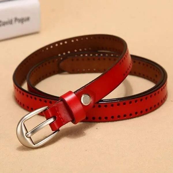 New Pin Buckle Women Fashion Genuine Leather Belt 8