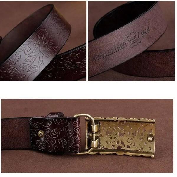 Women Fashion Luxury Genuine Top Quality Leather Belt 5