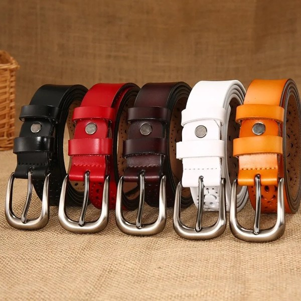 New Women Fashion Wide Genuine Leather Belt for Jeans 4