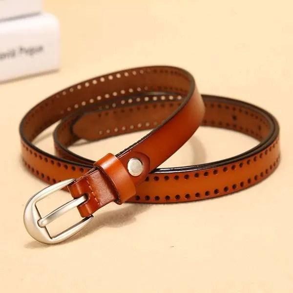 New Pin Buckle Women Fashion Genuine Leather Belt 7