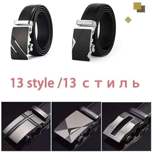 Men Top Quality Genuine Leather Belt 4
