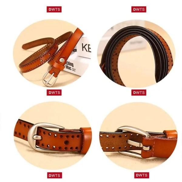 New Pin Buckle Women Fashion Genuine Leather Belt 3