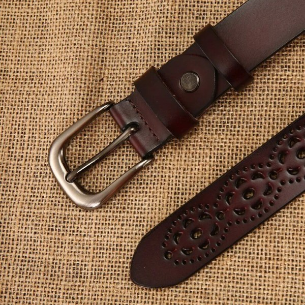New Women Fashion Wide Genuine Leather Belt for Jeans 5