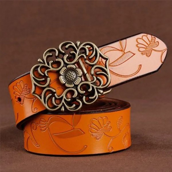 Top Quality Women Genuine Cowskin Belt 5