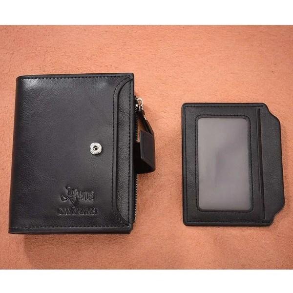 Vintage Men PU Cowhide Leather Multi-Functional Wallet 4