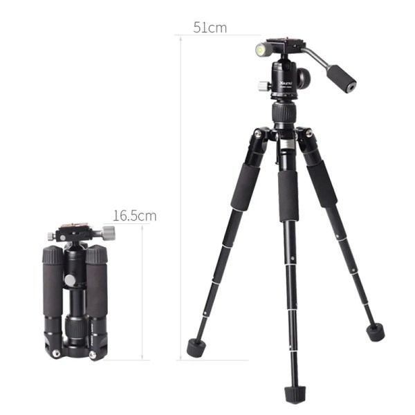 Mini Aluminum Stable Tabletop Desktop Tripod 8