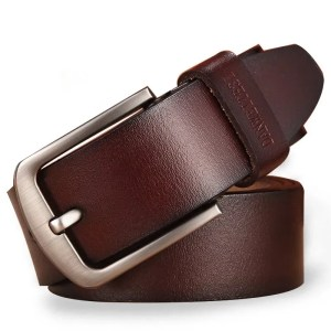 Men Genuine Leather Jeans Belt