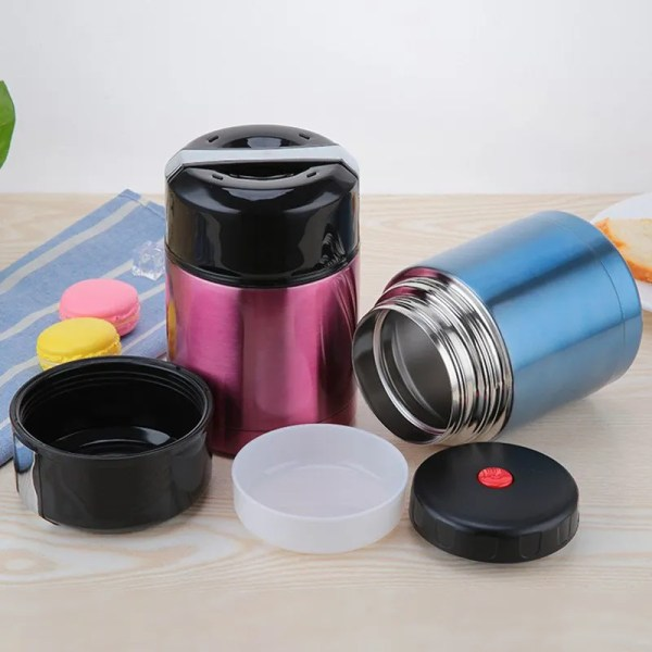 Double Stainless Steel Thermos Food Containers Lunch Box 3