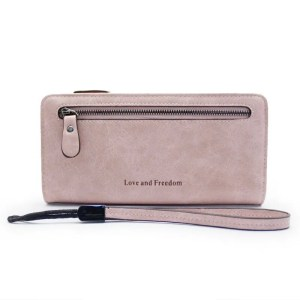 Women Fashion PU Leather Long Wallet