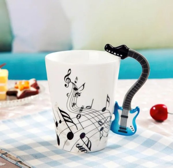 Musical Instruments Style Novelty Ceramic Mugs 16