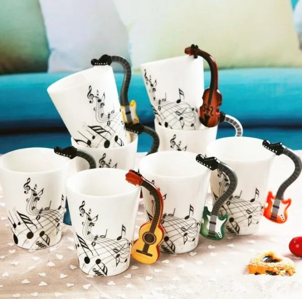Musical Instruments Style Novelty Ceramic Mugs 5