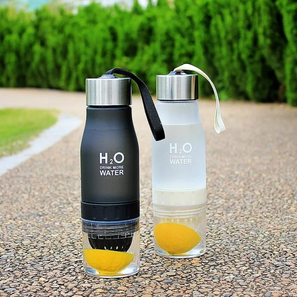 H2O Plastic Fruit Infusion Water Bottle