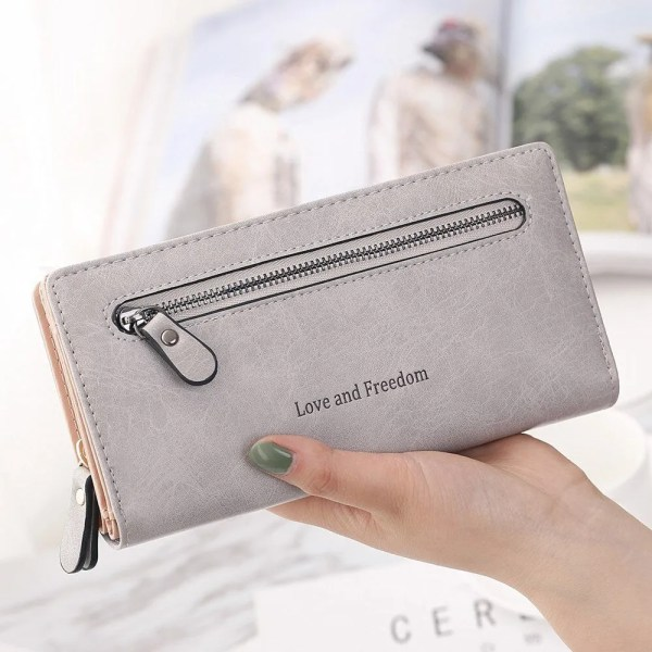 Women Fashion PU Leather Long Wallet 4