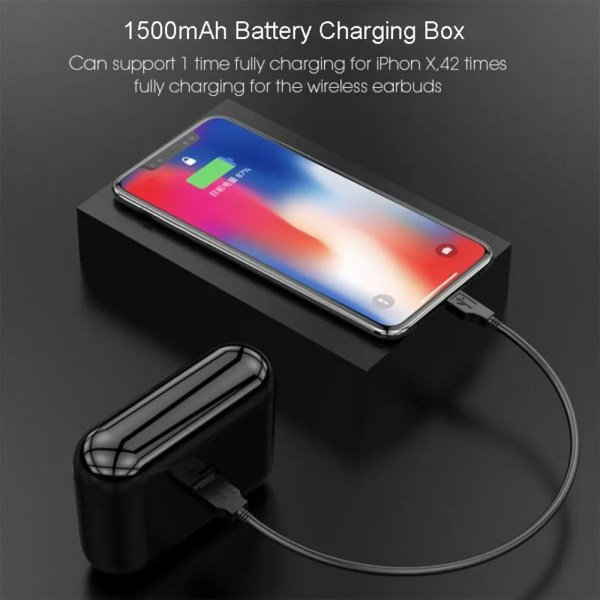 Q32 TWS Wireless Bluetooth 5.0 Earphones with 1500 mAh Charge 2