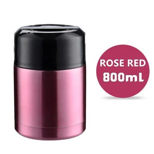 Double Stainless Steel Thermos Food Containers Lunch Box 6