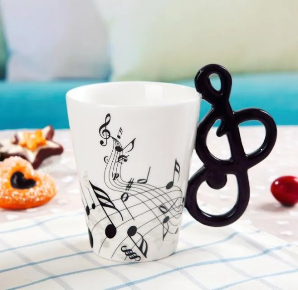 Musical Instruments Style Novelty Ceramic Mugs 3