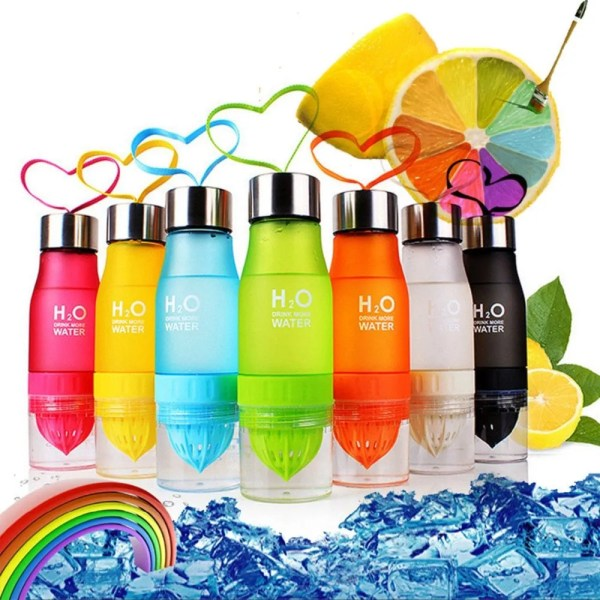 H2O 2019 700 ml Plastic Fruit Infusion Water Bottle 1