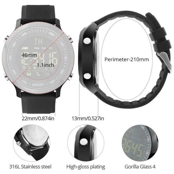 Smart Watch Waterproof IP68 with 5ATM Passometer Message Reminder 6