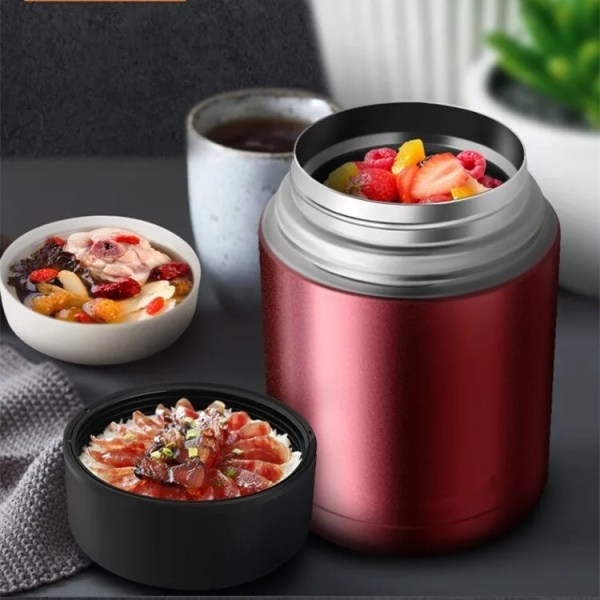 Double Stainless Steel Thermos Food Containers Lunch Box 5