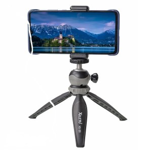 Mini Desktop Phone Stand Tabletop Tripod for Smart Phone