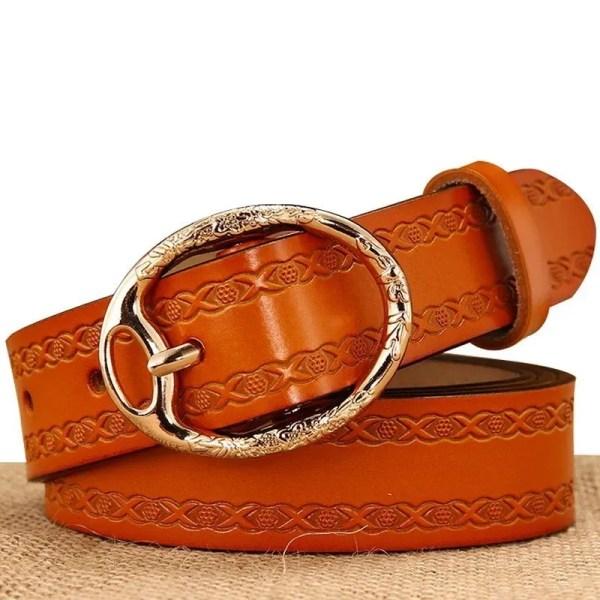 Women Designer Brand Luxury Leather Belt 1