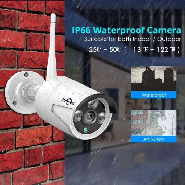 1080P Waterproof Wireless Wifi IP Camera with 3.6 mm Lens 3