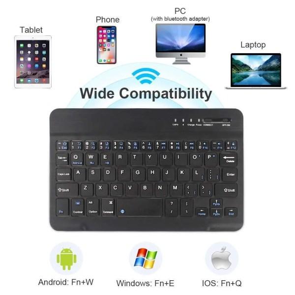 Mini Wireless Bluetooth Rechargeable Keyboard 5