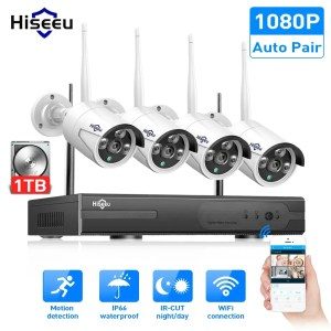 Hiseeu 8CH Wireless CCTV System 1080P 1TB Outdoor Security Surveillance Kit