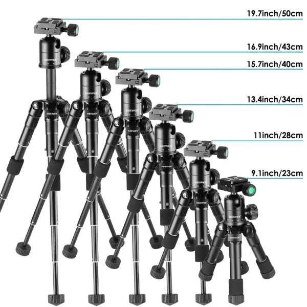Portable 20 inches Compact Macro Mini Tripod with 360 Degree Ball Head 6