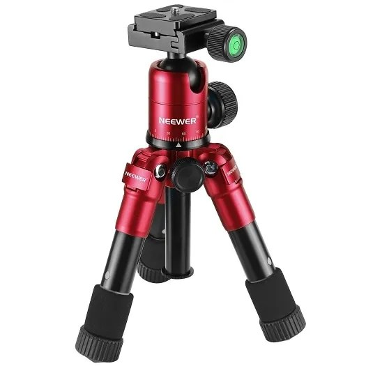 Portable 20 inches Compact Macro Mini Tripod with 360 Degree Ball Head 9