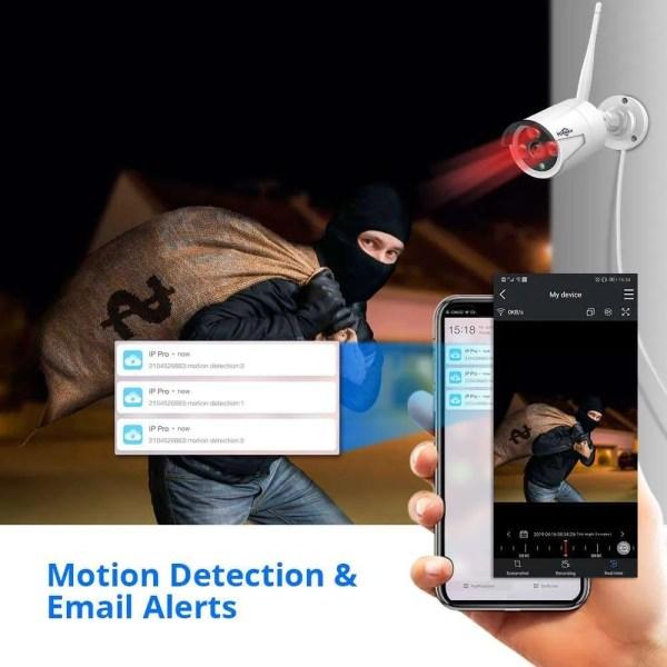 Hiseeu 8CH Wireless CCTV Security System 6