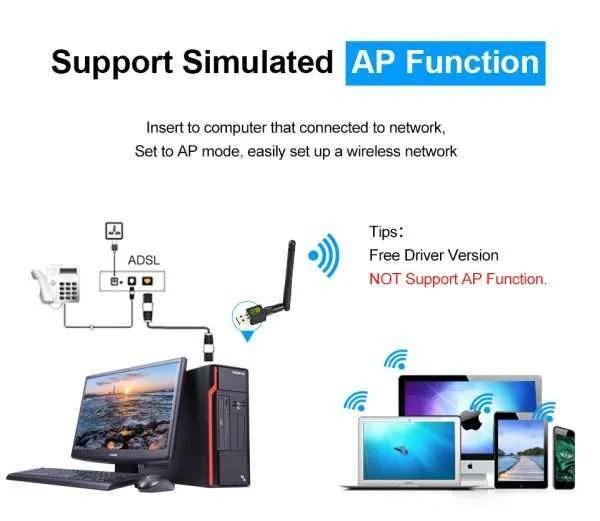 USB WiFi Adapter Ralink Wi-Fi Antenna Lan USB Ethernet Dongle 1