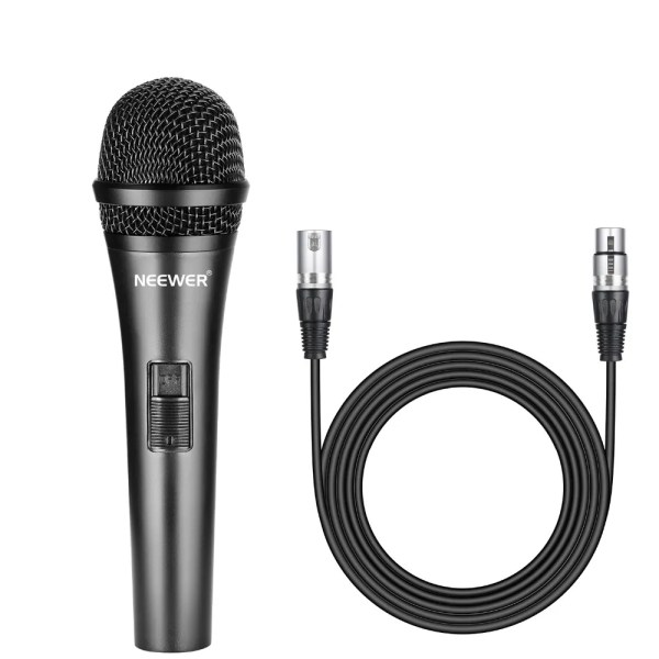 Professional Cardioid Dynamic Microphone with 3.5 mm Male to XLR Female Cable 1