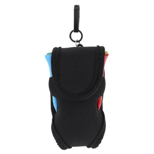 Mini Portable Golf Ball Holder Bag SBR Neoprene Waist Pack w/ 4Tees+2 Balls