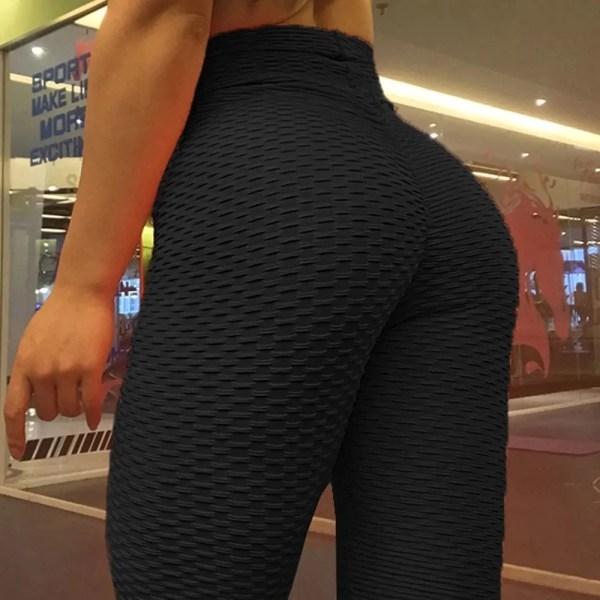 Sexy Leggings Sport Women Fitness Yoga Pants Plus Size Black leggins Jacquard Running Tights Gym Scrunch Anti Cellulite Leggings