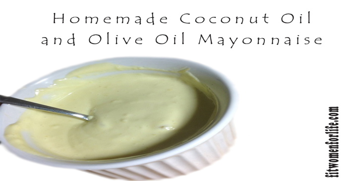 Homemade Coconut Oil and Olive Oil Mayonnaise