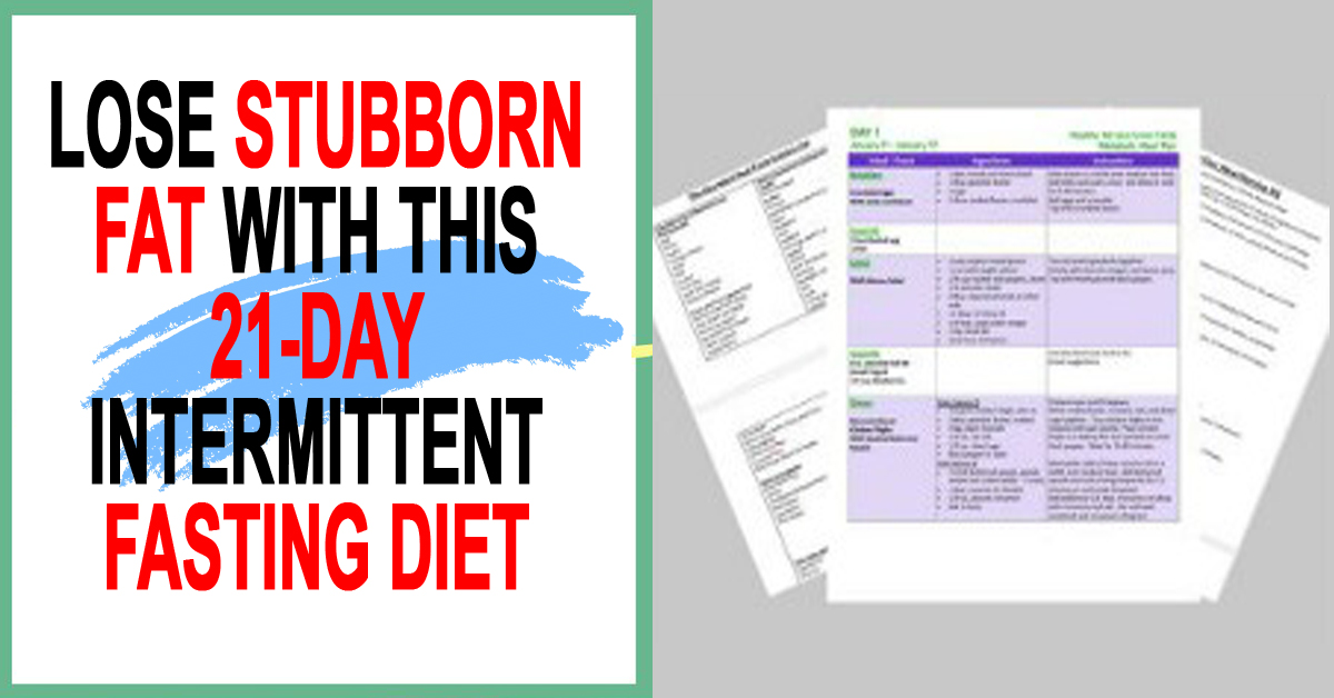 21-Day Intermittent Fasting Meal Plan For Women