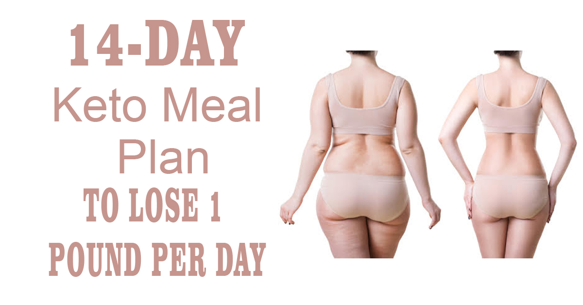 14-Day Keto Meal Plan To Lose 1 Pound Per Day